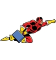 Flying Business Superhero With Briefcase vector image vector image