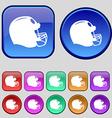 football helmet icon sign A set of twelve vintage vector image vector image