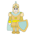 Funny cartoon knight on white background vector image
