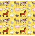 funny farm animals with background vector image vector image