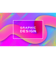 geometric abstract background gradient fluid vector image vector image