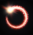 glowing comet tail frame on transparent background vector image