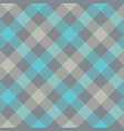 gray blue diagonal checkered plaid seamless vector image
