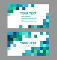 Green blue square design business card template vector image vector image