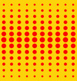 halftone dots red dots on yellow vector image vector image