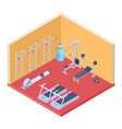 isometric gym and fitness equipment vector image vector image