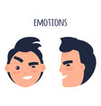 man skeptic emotions flat concept vector image vector image