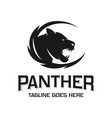 panther animal head logo design vector image vector image