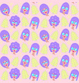 pattern with girl vector image vector image