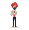 punjabi businessman vector image