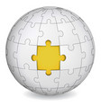 puzzle land with yellow the middle vector image vector image