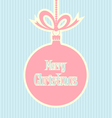 Retro style Christmas ball vector image vector image