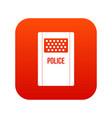 riot shield icon digital red vector image vector image