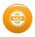 sale logo simple style vector image