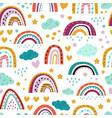scandinavian rainbow pattern seamless print vector image vector image