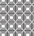 seamless black line square abstract pattern vector image