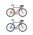set bicycle vector image