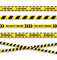 Set of caution tapes vector image
