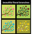 set of floral branches vector image vector image