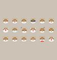 shiba inu emoticon flat style vector image vector image