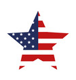 star with usa flag isolated icon vector image
