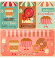 sweet shop set vector image vector image