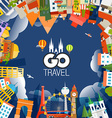 Travel concept Go travel vector image vector image