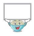 up board rice bowl character cartoon vector image