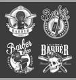 vintage barbershop logos vector image vector image