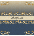 Vintage Royal classic ornament border vector image vector image