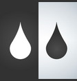 water drop - icon black and white vector image vector image