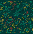 weed products seamless pattern cannabis industry vector image