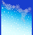 winter blurred gradient mesh background with white vector image vector image
