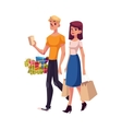 Young couple family man and woman shopping vector image vector image