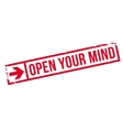 Open your mind stamp vector image