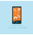 social phone concept flat design vector image