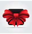 Red bow Isolated vector image