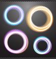 round neon light effect design element vector image