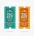 ticket icon blank admit set retro old style vector image