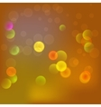 Abstract blurred background in yellow color vector image