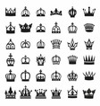 Big silhouette crown set vector image vector image