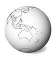 blank political map of australia 3d earth globe vector image vector image