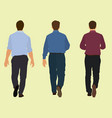 businessmen walking away vector image vector image
