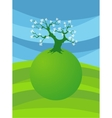 card with stylized treet image for design vector image vector image
