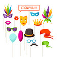 carnival photo booth props accessories vector image