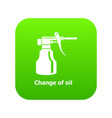 change oil icon green vector image vector image
