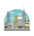 city downtown buildings style vector image vector image