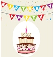 Colorful birthday background vector image vector image