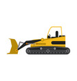 construction backhoe isolated vector image vector image