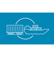 container delivery by rail and water transport on vector image vector image